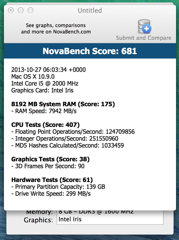 Test: Apple MacBook Pro Retina 13 (Haswell) (sammanfattning