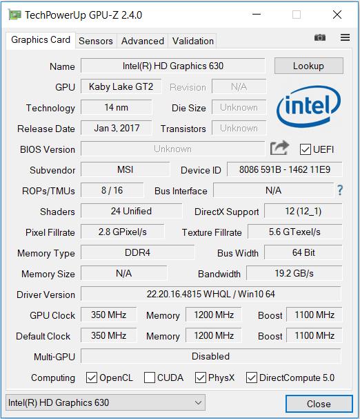 test  msi gs63vr 7rg stealth pro  i7