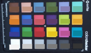ColorChecker: The target colour is in the lower half of each area.