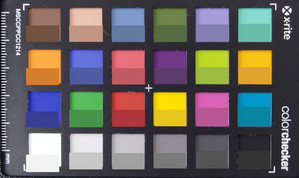 ColorChecker: The target color is in the bottom half of each area.
