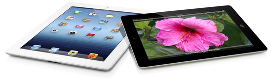 Apple iPad 3 - svart och vit