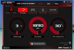 Asus GPU Tweak (OC-läge)